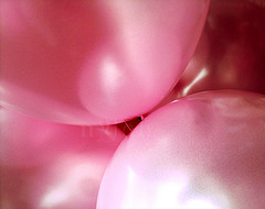 Release your dream wrapped in a pink bubble or balloon!